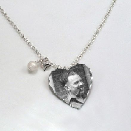 Permanent Photo Heart Necklace